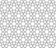 Wektorowy nowożytny bezszwowy święty geometria wzór, czarny i biały abstrakt ilustracji
