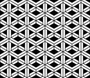 Wektorowy nowożytny bezszwowy święty geometria wzór 3d, czarny i biały abstrakt royalty ilustracja