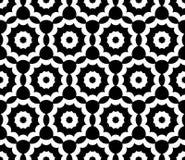 Wektorowy nowożytny bezszwowy święty geometria wzór kwiecisty, czarny i biały abstrakt royalty ilustracja
