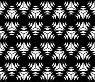 Wektorowy nowożytny bezszwowy święty geometria wzoru sześciokąt, czarny i biały abstrakt ilustracja wektor