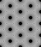 Wektorowy nowożytny bezszwowy święty geometria wzoru sześciokąt, czarny i biały abstrakt royalty ilustracja