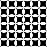 Wektorowy nowożytny bezszwowy geometria wzór kwiecisty, czarny i biały abstrakt ilustracji