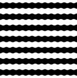 Wektorowy nowożytny bezszwowy geometria wzór paskujący, czarny i biały Obrazy Royalty Free