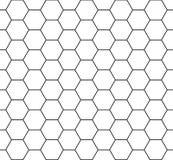 Wektorowy nowożytny bezszwowy geometria wzoru sześciokąt, czarny i biały honeycomb abstrakt Zdjęcie Royalty Free