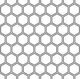 Wektorowy nowożytny bezszwowy geometria wzoru sześciokąt, czarny i biały honeycomb abstrakt royalty ilustracja