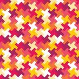 Wektorowy nowożytny bezszwowy kolorowy geometrii łamigłówki wzór, koloru abstrakt Obrazy Stock