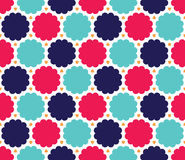 Wektorowy nowożytny bezszwowy kolorowy geometrii chmury wzór, barwi błękita różowego abstrakt ilustracja wektor