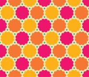 Wektorowy nowożytny bezszwowy kolorowy geometrii chmury wzór, koloru abstrakt ilustracji