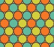 Wektorowy nowożytny bezszwowy kolorowy geometrii chmury wzór, koloru abstrakt ilustracja wektor