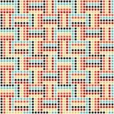 Wektorowy nowożytny bezszwowy kolorowy kropka wzór, abstrakcjonistyczny geometryczny tło, tapetowy druk, retro tekstura Ilustracji