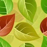 Wektorowy nowożytny bezszwowy kolorowy liścia wzoru tło royalty ilustracja