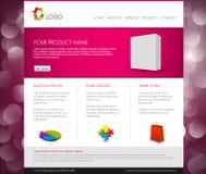 Wektorowy Nowożytny produktu homepage szablon Obrazy Stock