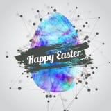 Wektorowy nowożytny szczęśliwy Easter karciany projekt z jaskrawym royalty ilustracja
