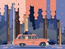 Wektorowy nowożytny retro samochód Zdjęcia Royalty Free