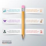 Wektorowy ołówek dla infographic Obrazy Stock