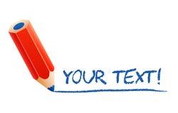 Wektorowy ołówek z tekstem Zdjęcie Stock
