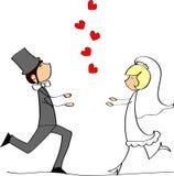 wektorowy obrazka ślub Zdjęcia Royalty Free