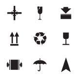 Wektorowy ocechowanie ładunek ikony ustawiać Obraz Royalty Free