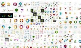 Wektorowy ogólnoludzki mega set firma logowie Fotografia Stock