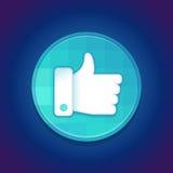 Wektorowy ogólnospołeczny medialny docenienie Obrazy Stock