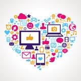 Wektorowy ogólnospołeczny medialny pojęcie Fotografia Stock