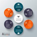 Wektorowy okręgu element dla infographic Zdjęcia Stock