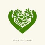 Wektorowy organicznie loga pojęcie Zdjęcia Stock