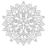 Wektorowy Orientalny kwiecisty mandala Symetryczny kurenda wzór royalty ilustracja