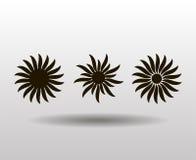 Wektorowy ornament, abstrakcjonistyczny słońce, kwiat Tatuaż Zdjęcie Royalty Free