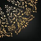 Wektorowy ornamentacyjny kwiecisty element ilustracyjny lelui czerwieni stylu rocznik Zdjęcie Stock