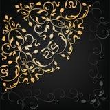 Wektorowy ornamentacyjny kwiecisty element ilustracyjny lelui czerwieni stylu rocznik Zdjęcie Royalty Free