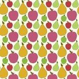 Wektorowy owocowy bezszwowy wzór Obrazy Royalty Free