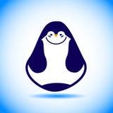 Wektorowy Północny zwierzęcy pingwin na błękitnym & białym tle Ilustracja Wektor