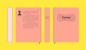 Wektorowy płaski kolorowy książkowy układ Obrazy Stock