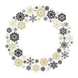 Wektorowy płatka śniegu wianek Obraz Stock