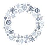 Wektorowy płatka śniegu wianek ilustracji