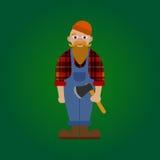Wektorowy płaski lumberjack Ilustracji