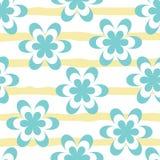 Wektorowy pastelowy błękitny i biały kwiat z kolorem żółtym ilustracji