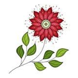 Wektorowy Piękny Barwiony Konturowy kwiat royalty ilustracja