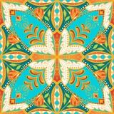 Wektorowy piękny barwiony wzór dla projekta i moda z dekoracyjnymi elementami Kwieciste etniczne bandany royalty ilustracja
