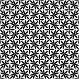 Wektorowy Piękny czarny i biały bezszwowy wzór Zdjęcie Stock