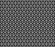 Wektorowy Piękny czarny i biały bezszwowy wzór Zdjęcia Stock