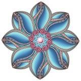 Wektorowy Piękny Deco Barwiący konturowy mandala royalty ilustracja