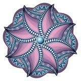 Wektorowy Piękny Deco Barwiący konturowy mandala Zdjęcia Royalty Free