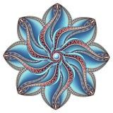 Wektorowy Piękny Deco Barwiący konturowy mandala Zdjęcia Stock