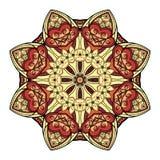 Wektorowy Piękny Deco Barwiony mandala ilustracja wektor