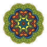 Wektorowy Piękny Deco Barwiony mandala royalty ilustracja