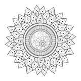 Wektorowy Piękny monochromu konturu kwiat ilustracja wektor