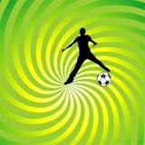 wektorowy piłki nożnej tło Zdjęcie Stock