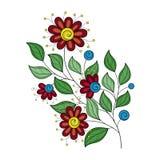 Wektorowy Piękny Barwiony Konturowy kwiat Obraz Royalty Free